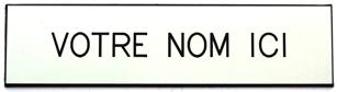 Nom boite aux lettres - Etiquette boite au lettre ...